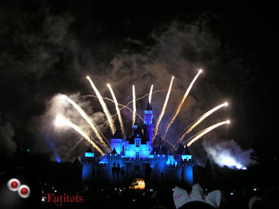 Fireworks display at Hongkong Disneyland