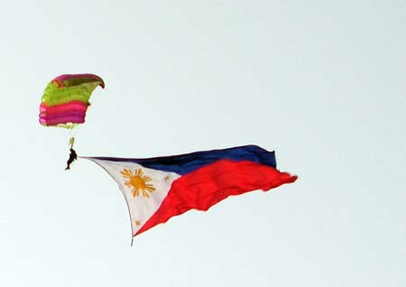 The Philippine Flag in the sky