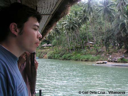 Chris on the Loboc River Floating Restaurant