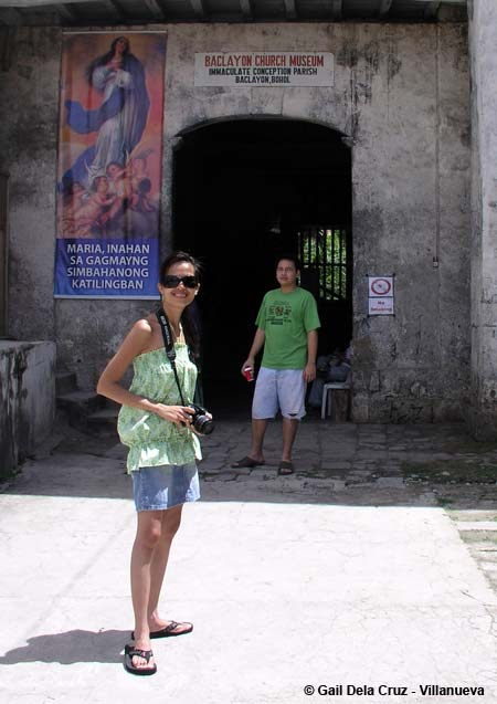 Sasha and Rico at the Baclayon Church Museum entrance