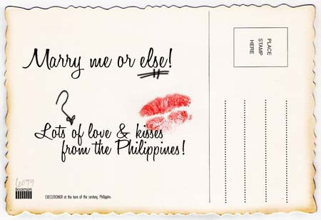 Post card back view