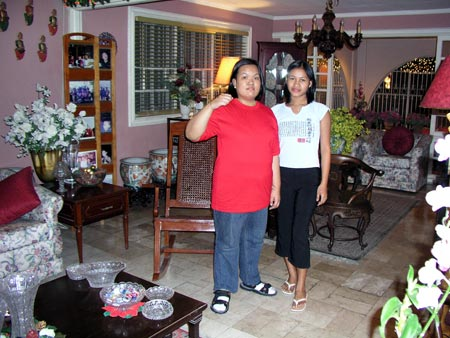 Joyce and Marilyn at a family reunion in Alabang