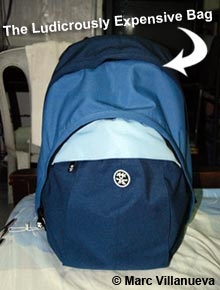 Marc's Crumpler bag