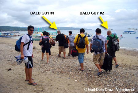 Bald boys in Boracay
