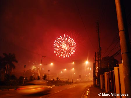 New Year Fireworks on Katipunan Avenue