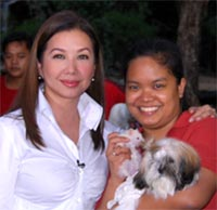 Me with Korina Sanchez at a pet event of Rated K